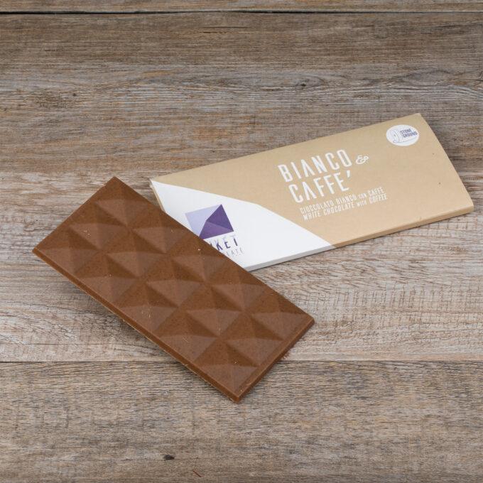 Tavoletta aperta cioccolato Bianco e Caffè
