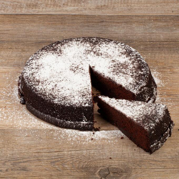Torta Tenerina al cioccolato tagliata