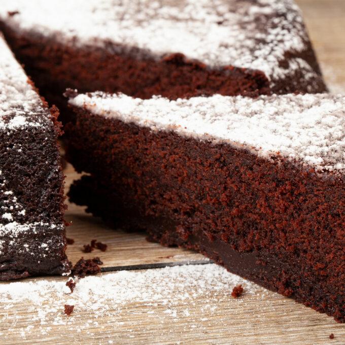 Torta Tenerina al cioccolato interno