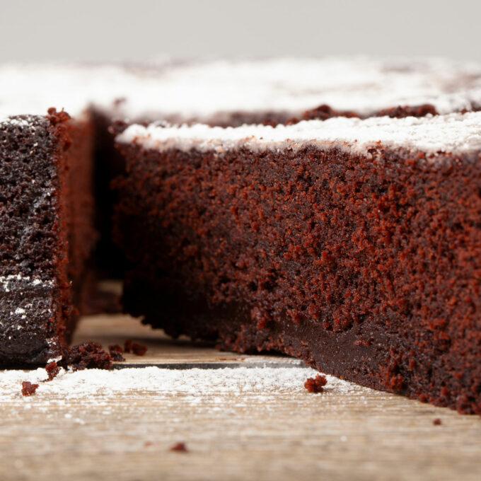 Interno Torta Tenerina al cioccolato